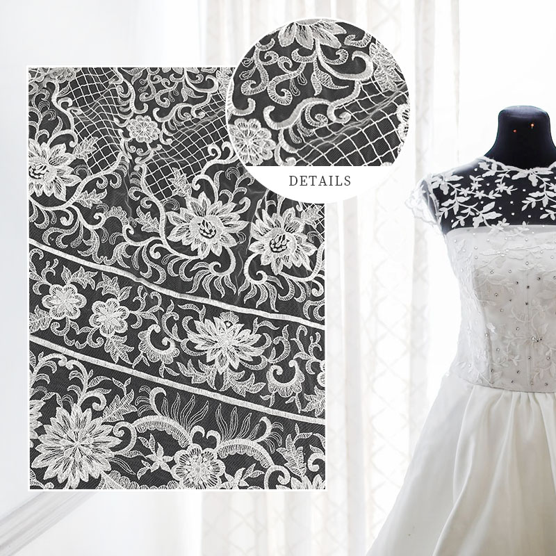 GT white fabric for wedding decor Suppliers for promotion-2
