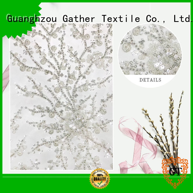 GT sequin embroidery fabric company for promotion